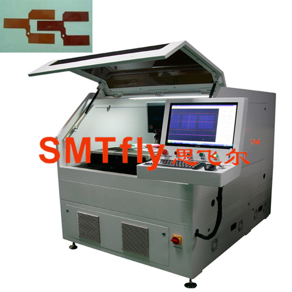 laser pcb depaneling machine with 10W laser imported from USA,SMTfly‐5S